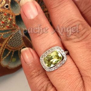 Citrine Swarovski Stone Ring Sz 8.5